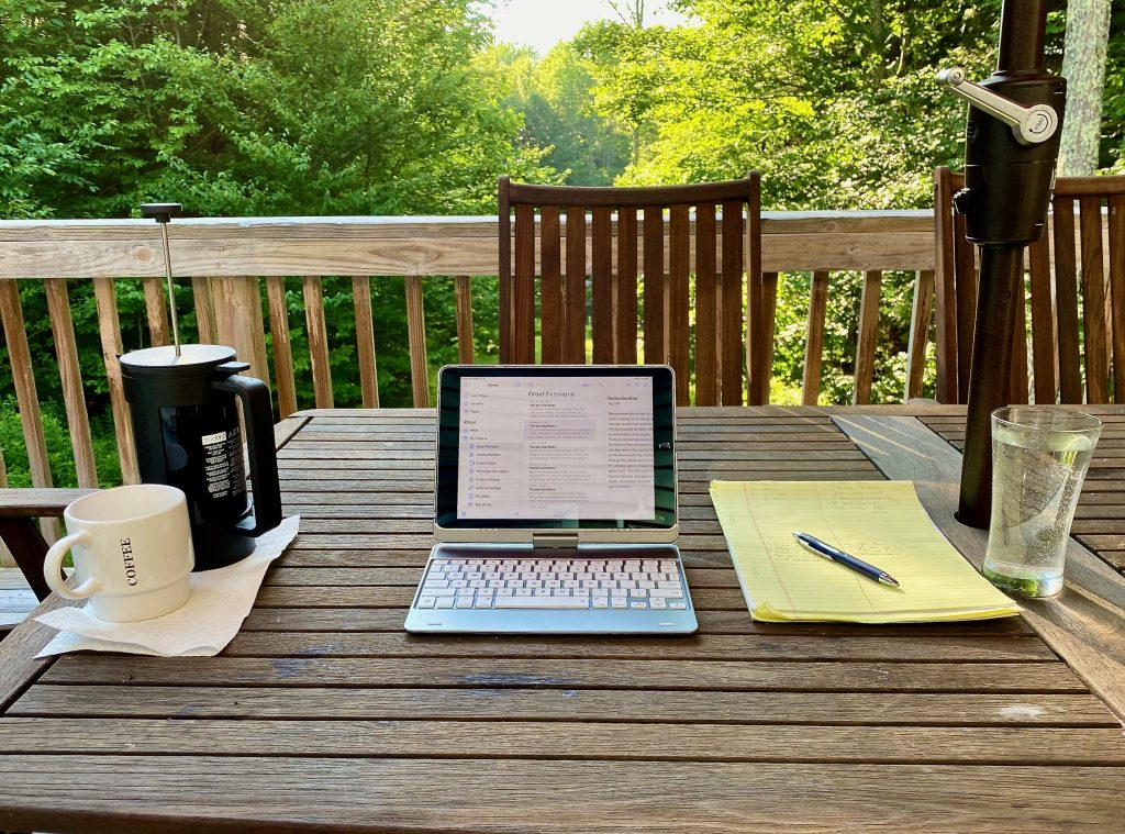 Writing at the Cabin