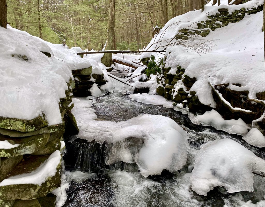 Snowy Stream in the Catskills